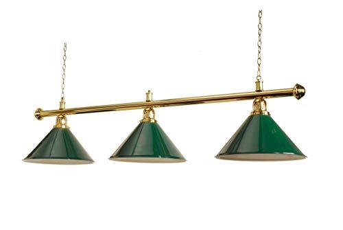 ROSETTA BRASS 60 INCH POOL BILLIARD SNOOKER TABLE LIGHT GREEN COLOURED SHADE ISLAND LIGHTING
