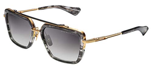 DITA Gafas de Sol MACH-SEVEN DARK GREY YELLOW GOLD/GREY SHADED 56/19/130 hombre