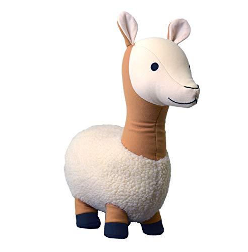 Yogibo Mates Stuffed Animals, Huggable Cute Plush Toys for Kids, A Soft Huggable Friend, Sensory Toy with Soft Mini Bean Fill, Llama