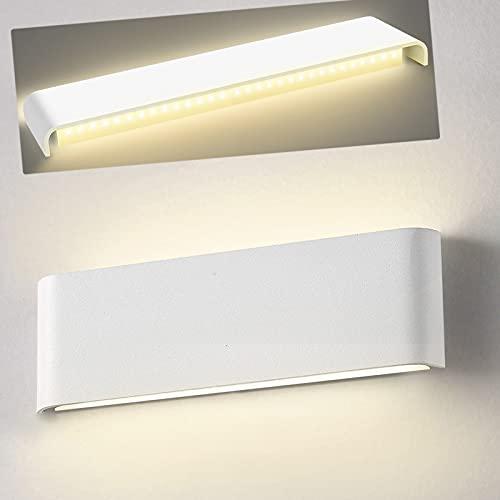 Applique Mural Interieur 30CM LED Wowatt Moderne Lampe Murale Enfant Blanc Chaud 2800K Aluminium 12W 220V Luminaire Mural Éclairage Decoration pour Chambre Salon Couloir Escalier Hôtel Salle de Bain