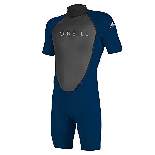 O'Neill Wetsuits Reactor-2 2mm Back Zip Spring Traje húmedo, Hombre, Negro/Abismo, S