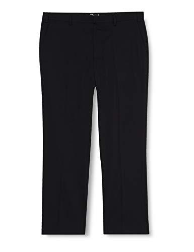 Hem & Seam Hem & Seam Herren Anzughose Stretch Regular Fit, Schwarz (Black Black), 34R
