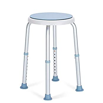 OasisSpace 360 Degree Rotating Shower Chair Tool Free Adjustable Shower Stool Tub Chair and Bathtub Seat Bench with Anti-Slip Rubber Tips for Safety and Stability