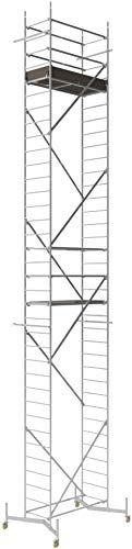 ALTEC Rollfix 1000-S, Arbeitshöhe 10 m neu, inkl. teleskopierbarer Traverse, Made in Germany, Alu Gerüst Aluminium Rollgerüst Fahrgerüst Baugerüst Zimmergerüst Arbeitsplattform Arbeitsbühne