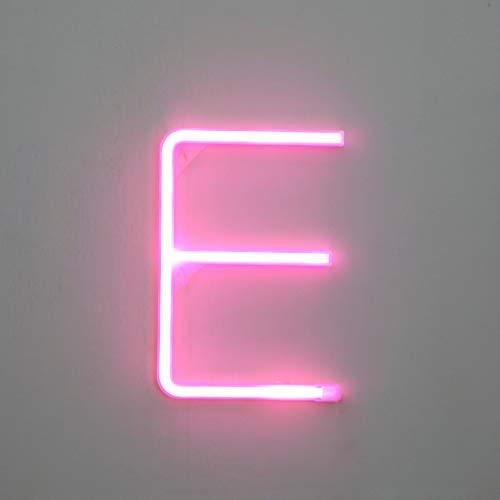 Watopi Letras de neón rosas iluminadas, carpa amarilla brillante, letras del alfabeto, luces de decoración de pared para Navidad, fiesta de cumpleaños, barra de Halloween, Día de San Valentín