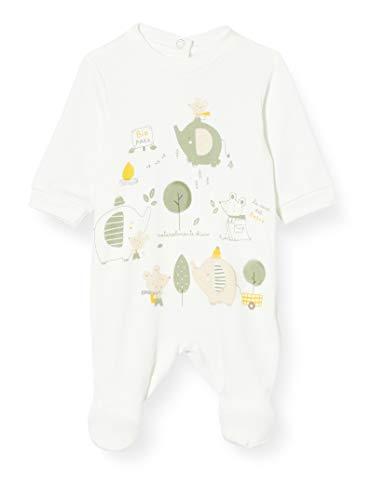 Chicco Tutina con Apertura sul patello Pigiamino per Bambino e Neonato, Bianco, 056 Unisex-Bimbi