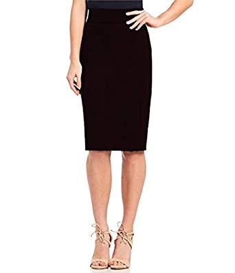 Stars and You Formal Pencil Skirt with Elastic Waist Band (Size in inches XS-26, S-28, M-30, L-32, XL- 34, XXL-36 INCHES)