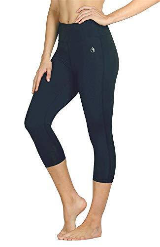 icyzone Femme Pantalon de Sport Court Leggings Yoga Corsaire Slim 3/4 Longueur (S, Blueberry)