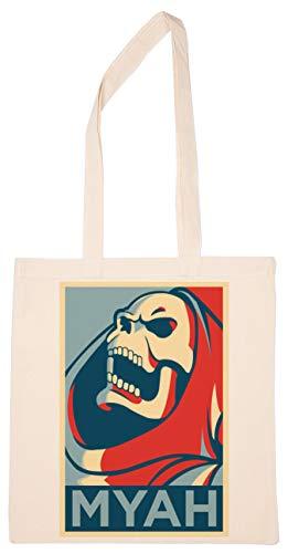 Enigmae Gritando Esqueleto Reutilizable Compras Tienda de Comestibles Algodn Bolsa Reusable Shopping Bag