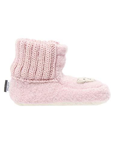 Steiff Knopf im Ohr Schuhe - Hausschuhe Kinder und Baby pink Bastian, Farbe:Pink, Größe:EUR 17