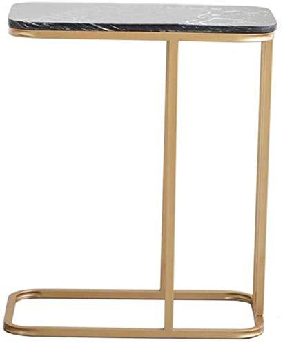 TXC- Marmer salontafel rechthoekig salontafel hotelkamer-bloempotten telefoon tafelformaat 50 x 30 x 60 cm handelbare tabel klein