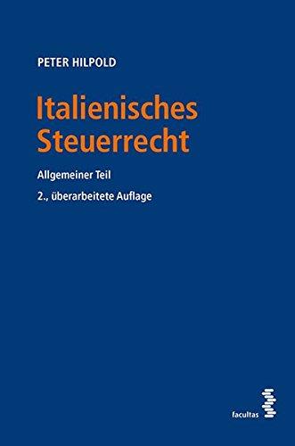 Italienisches Steuerrecht: Allgemeiner Teil