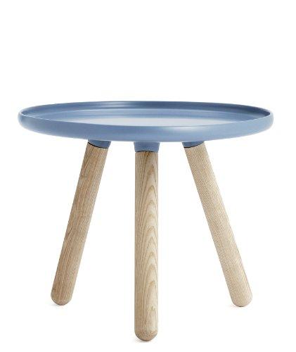 Normann Copenhagen Tablo Table, Plastique, Bois de frêne, Bleu, 42x50cm