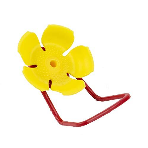 PERKY-PET 91YF 교체 황색 HOLLYHOCK 꽃 포트 & PERCHES-6PK