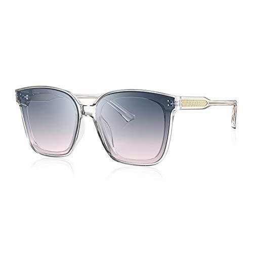 Protecciones Gafas Protectoras Gafas de Sol para Hombres Mujeres UV GM Black Super Gafas Conducción Gafas de Sol Moda de Moda Vidrios de Marco Grande Ojos (Color : A-Transparent)