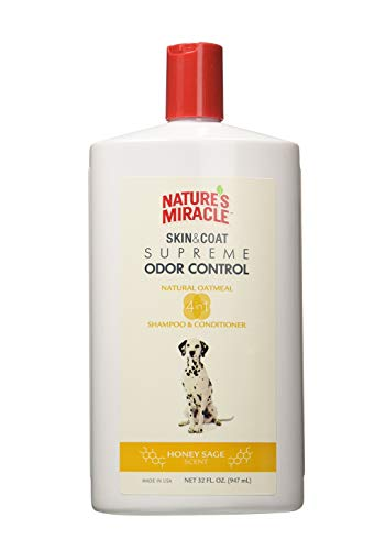 Nature's Miracle shampoo conditioner - probably the best option