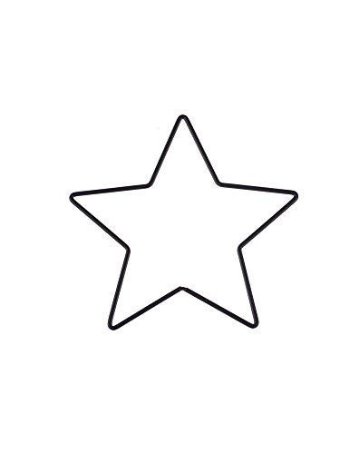 GLOREX 6 1294 416 - Metallrahmen Stern zum Basteln ca. 20 cm, beschichtet in schwarz, ideal für Traumfänger, Makramee, Wanddeko und Floristik
