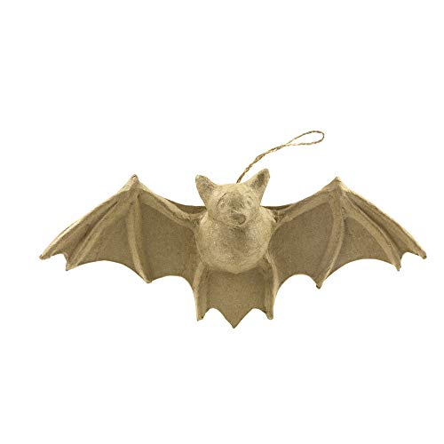 Décopatch AP150O Träger XS aus Pappmaché, mini Fledermaus, 12 x 4 x 16,5 cm, zum Verzieren, perfekt für Halloween