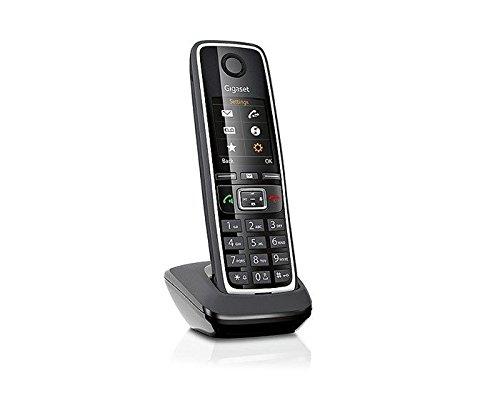 Gigaset C530HX Telefon - Schnurlostelefon / Mobilteil - mit großem TFT-Farbdisplay - für DECT / CATiq Router - mit Freisprechfunktion – Schwarz