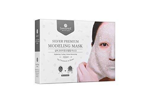 [SHANGPREE] SILVER PREMIUM MODELING MASK (Set of 5 masks; Gel 50g x 5ea & Powder 4.5g x 5ea) brightening
