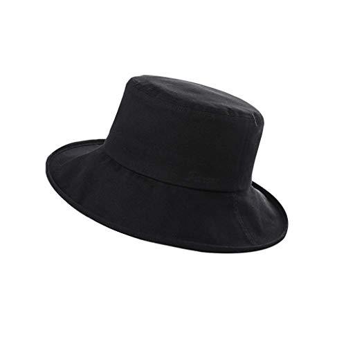 GFDFD Protezione UV Esterna delle Signore semplici del Cappello della Signora di Modo della Moda, Protezione Libera del Bordo del Cappuccio di Estensione di Certificazione (Color : C)