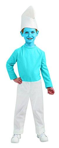 Smurfen - Smurf kostuum Talla S (3 - 4 años) wit