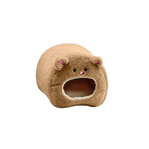 Mascota hámster cama caliente marrón colgando hamaca Jaula lindo hámster Casa con el amortiguador de invierno hámster rata cama