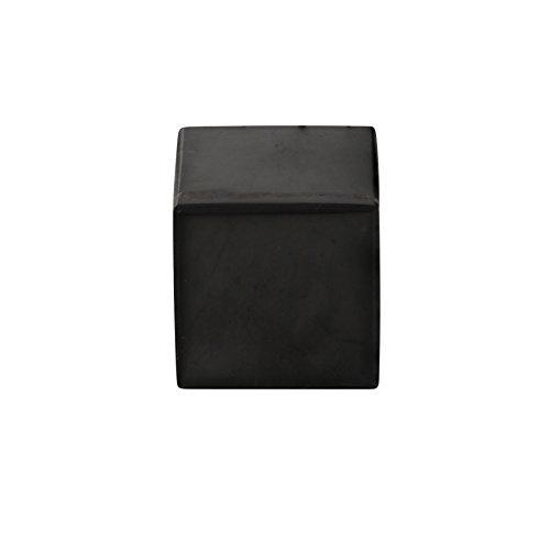 Heka Naturals Shungit Polierter Würfel 5 cm Enthalten Fullerene für EMF-Schutz Authentische Karelische Schungitstein-Figuren für Meditation und Energiebalancierung | 5 Zentimeter Polished Cube