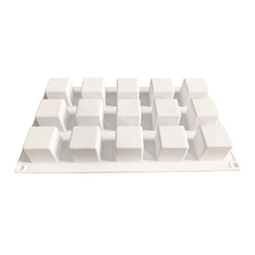 xiaome 15-Cavity 3D Cube Silicone Chocolat Moules De Cuisson Moule Carré Gâteau Tache