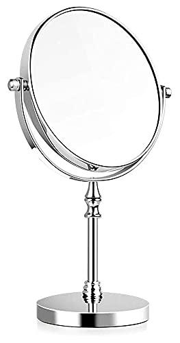 Espejo de Maquillaje Espejo, baño, montado en la Pared, tocador, Espejo de tocador de Escritorio de Doble Cara de Alta definición Espejo de tocador 3 aumentos Espejos de rotación de 360 ° para esc