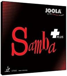 JOOLA–Revestimiento Samba Plus de Tenis de Mesa–Rojo MAX