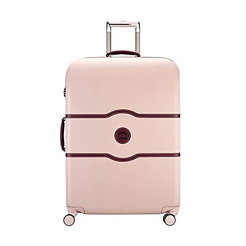 Fengbingl Carrying suitcase Portable Trolley Case, Scratch-resistant Suitcase, Retro Leather Suitcase, With Brake Wheel Cabin Waterproof luggage (Color : Pink, Size : 55×35×25CM)