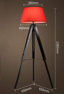 WUYUESUN American Vintage Lámpara de pie Ajustable Trípode Lámparas de pie for Sala de Estar Dormitorio Dormitorio Decoración Luz Home E27 Lámpara de pie (Lampshade Color : I)
