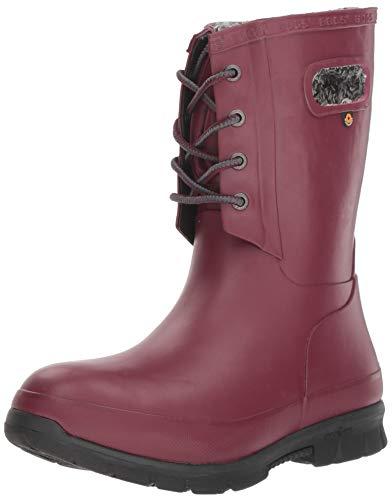BOGS 72103, Stivali di Gomma da Lavoro Donna, Rosso (Burgundy), 36.5