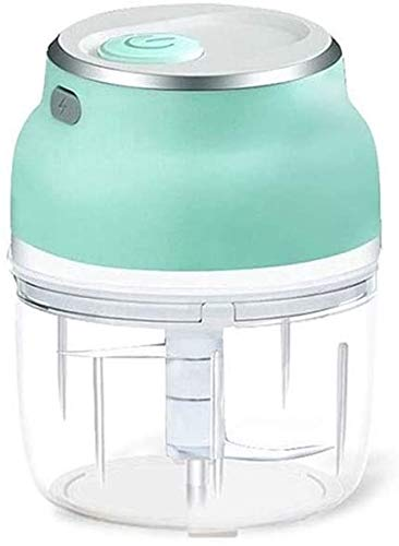 Cakunmik Chopper de Vegetales inalámbricos Mini Chopper Pequeño, Mini Picador de Alimentos, Procesador de Alimentos para Ajo Veggie, Dicing, Puree Puree Ensalada,150ML