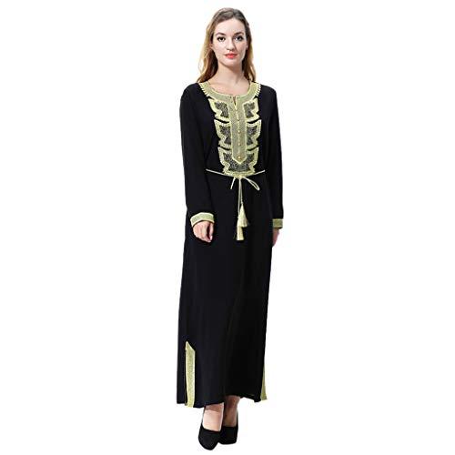 Lazzboy Frauen Plus Größe Drucken Abaya Jilbab Muslim Maxi Casual Kaftan Langes Kleid Robe...