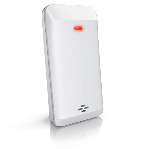 CSL - Außensensor für Wetterstation B07T8B7C5J - B082P3LZGH - B081D5MD99 – Temperatur und Luftfeuchtigkeit - 433 MHz – als Erweiterung - inkl. Batterie - weiß