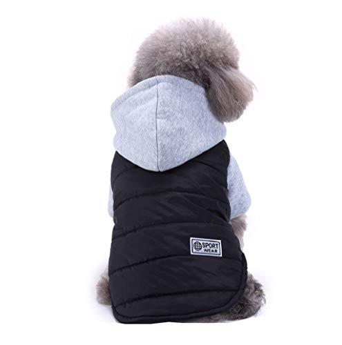Winter Kapuzen-Hundemantel,TWBB Bekleidung Für Kleine Wasserdichter Winddicht Sport Hundepullover Mantel Warm Haustier Kapuzenjacke Bekleidung für kleine mittel große Hunde