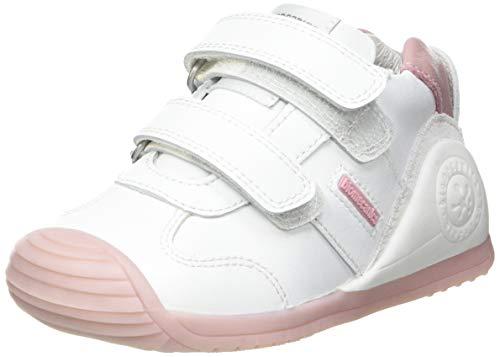 Biomecanics 151157, Zapatillas Niñas, Color Blanco y Rosa, 20 EU