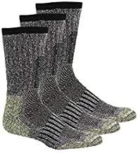 Khombu Men's DuPont Kevlar Reinforced Steel Toe Ultimate Boot Sock Multipack
