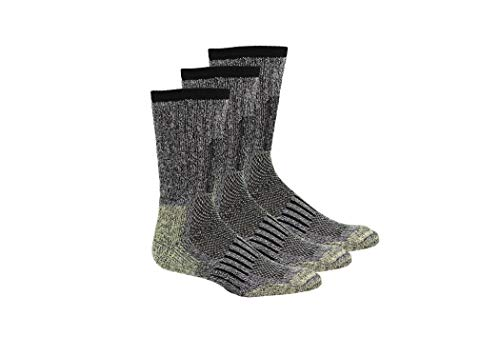 Khombu Men's DuPont Kevlar Reinforced All Season Boot Socks 3pk