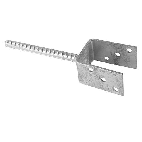 Pfostenträger | U-Form | feuerverzinkt | 71 mm | 200 mm Steindolle | Garten | Hof | Pfosten | Pfostenträger | Pfostenhalter | Büchse | Einbetonieren