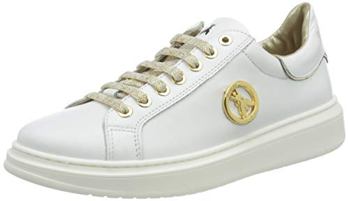 Patrizia Pepe PPJ521 Sneaker, White, 39/39.5 EU