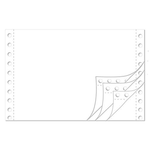 Endlospapier 6 Zoll x 240 mm (A5 quer 152,4 mm x 240 mm) 4-fach blanko 60/53/53/57 g/qm 1000 Blatt