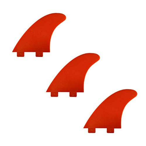 Extremehorizon Eurofin C-Model surfboard Fin. FCS compatible - Red