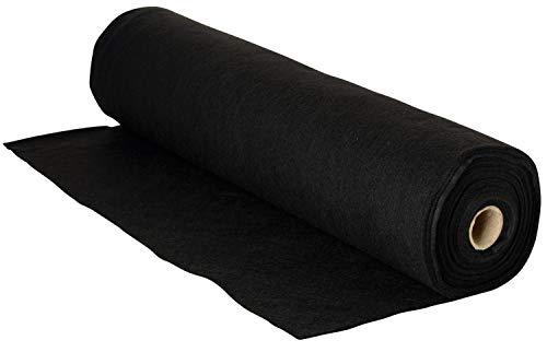 Bastelfilz Filzrolle, Länge 5m Breite 45 cm, 1-1,5 mm Stärke, filzen basteln Schwarz
