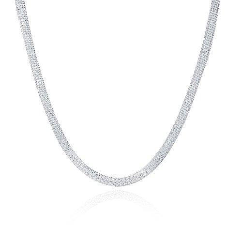12 Collier Accessoire maile Forçat avec Fermoir à Mousqueston 46cm