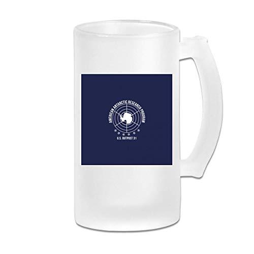 Gedruckte 16oz Milchglas Bierkrug Tasse - The Outpost 31 Antarctica, Trucker Cap - Graphic Mug