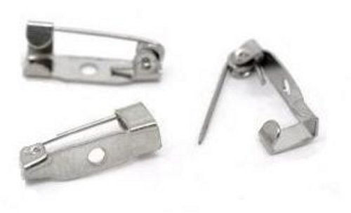 live-wire-direct 100 Small Tiny Brooch Backs Bar Safety Pins 15mm Catch Findings