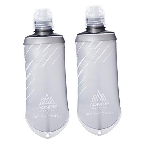 freneci 2X Botella de Agua Paquete de Hidratación de Escalada Frasco Enrollable Saludable Reutilizable